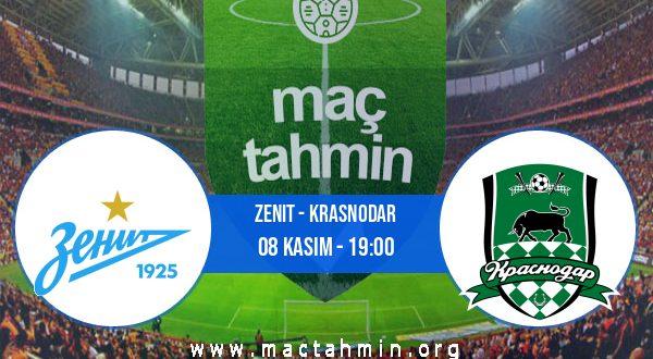 Zenit - Krasnodar İddaa Analizi ve Tahmini 08 Kasım 2020