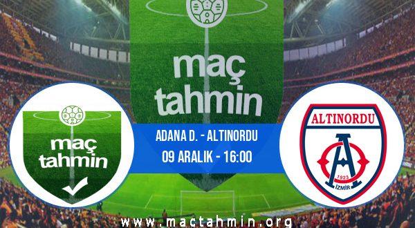 Adana D. - Altınordu İddaa Analizi ve Tahmini 09 Aralık 2020