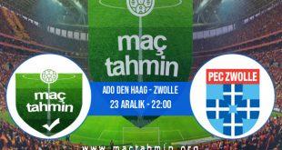 ADO Den Haag - Zwolle İddaa Analizi ve Tahmini 23 Aralık 2020