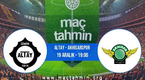 Altay - Akhisarspor İddaa Analizi ve Tahmini 19 Aralık 2020