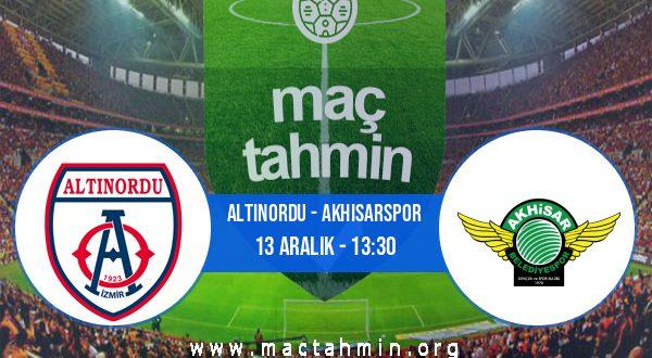 Altınordu - Akhisarspor İddaa Analizi ve Tahmini 13 Aralık 2020