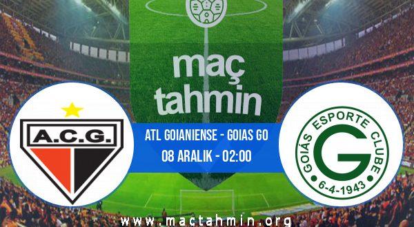 Atl Goianiense - Goias GO İddaa Analizi ve Tahmini 08 Aralık 2020