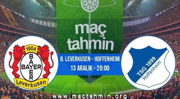 B. Leverkusen - Hoffenheim İddaa Analizi ve Tahmini 13 Aralık 2020