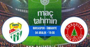 Bursaspor - Ümraniye İddaa Analizi ve Tahmini 04 Aralık 2020