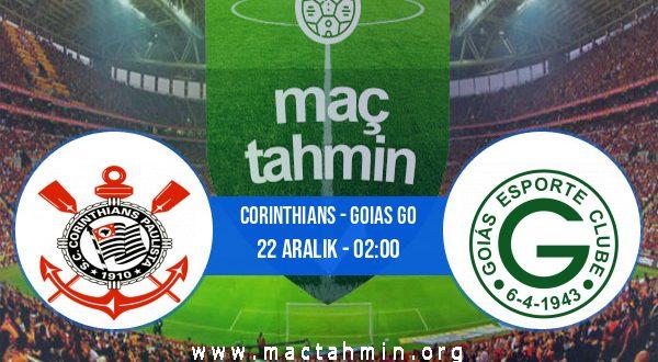 Corinthians - Goias GO İddaa Analizi ve Tahmini 22 Aralık 2020