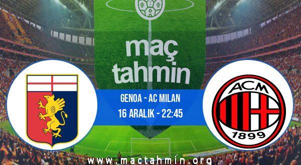 Genoa - AC Milan İddaa Analizi ve Tahmini 16 Aralık 2020