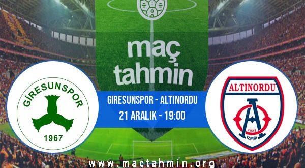 Giresunspor - Altınordu İddaa Analizi ve Tahmini 21 Aralık 2020