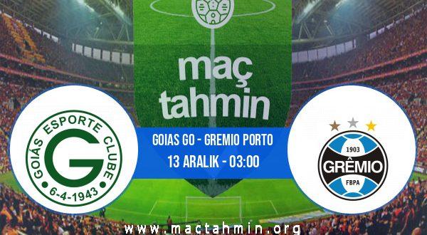 Goias GO - Gremio Porto İddaa Analizi ve Tahmini 13 Aralık 2020