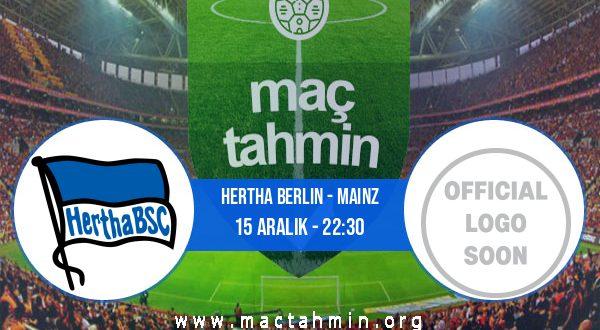 Hertha Berlin - Mainz İddaa Analizi ve Tahmini 15 Aralık 2020