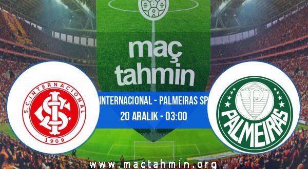 Internacional - Palmeiras SP İddaa Analizi ve Tahmini 20 Aralık 2020