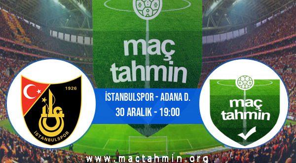 İstanbulspor - Adana D. İddaa Analizi ve Tahmini 30 Aralık 2020