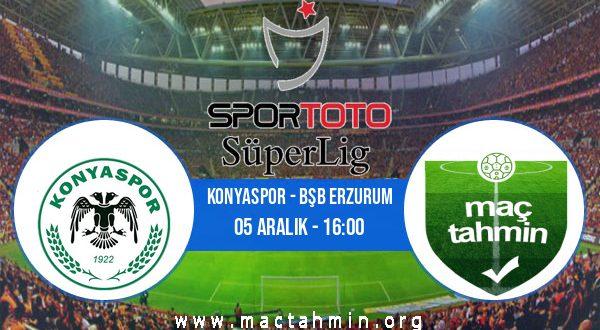 Konyaspor - Bşb Erzurum İddaa Analizi ve Tahmini 05 Aralık 2020