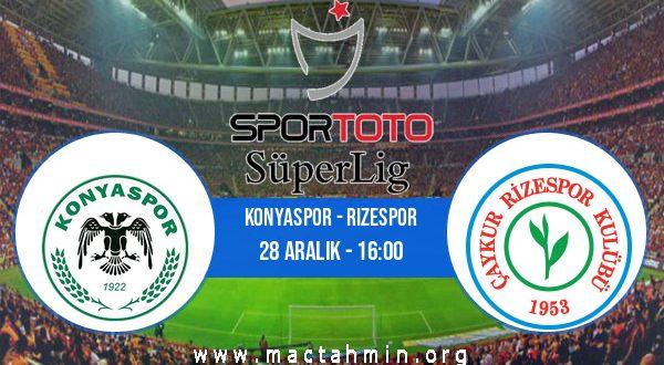 Konyaspor - Rizespor İddaa Analizi ve Tahmini 28 Aralık 2020