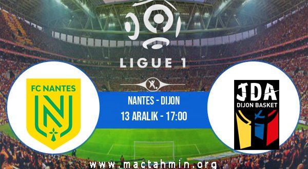 Nantes - Dijon İddaa Analizi ve Tahmini 13 Aralık 2020