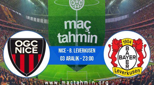 Nice - B. Leverkusen İddaa Analizi ve Tahmini 03 Aralık 2020