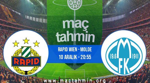 Rapid Wien - Molde İddaa Analizi ve Tahmini 10 Aralık 2020