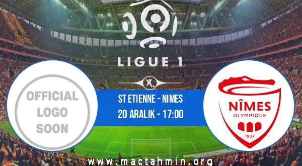 St Etienne - Nimes İddaa Analizi ve Tahmini 20 Aralık 2020
