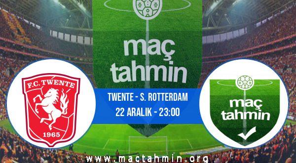 Twente - S. Rotterdam İddaa Analizi ve Tahmini 22 Aralık 2020