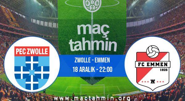 Zwolle - Emmen İddaa Analizi ve Tahmini 18 Aralık 2020