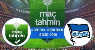 A. Bielefeld - Hertha Berlin İddaa Analizi ve Tahmini 10 Ocak 2021