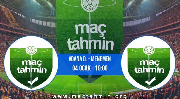 Adana D. - Menemen İddaa Analizi ve Tahmini 04 Ocak 2021