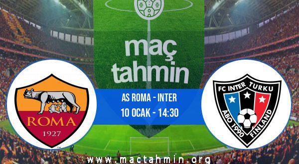 AS Roma - Inter İddaa Analizi ve Tahmini 10 Ocak 2021