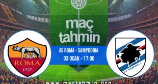 AS Roma - Sampdoria İddaa Analizi ve Tahmini 03 Ocak 2021
