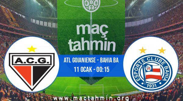 Atl Goianiense - Bahia BA İddaa Analizi ve Tahmini 11 Ocak 2021