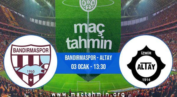 Bandırmaspor - Altay İddaa Analizi ve Tahmini 03 Ocak 2021