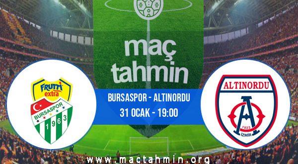 Bursaspor - Altınordu İddaa Analizi ve Tahmini 31 Ocak 2021