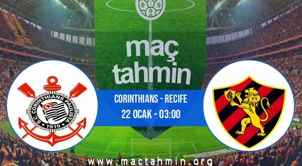 Corinthians - Recife İddaa Analizi ve Tahmini 22 Ocak 2021