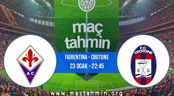 Fiorentina - Crotone İddaa Analizi ve Tahmini 23 Ocak 2021