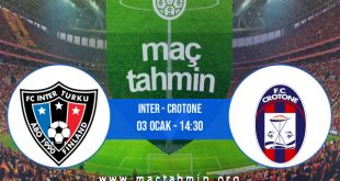 Inter - Crotone İddaa Analizi ve Tahmini 03 Ocak 2021