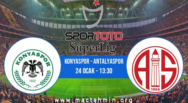 Konyaspor - Antalyaspor İddaa Analizi ve Tahmini 24 Ocak 2021