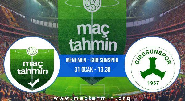Menemen - Giresunspor İddaa Analizi ve Tahmini 31 Ocak 2021