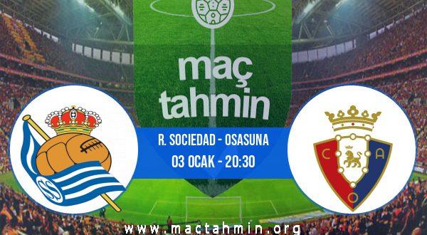 R. Sociedad - Osasuna İddaa Analizi ve Tahmini 03 Ocak 2021