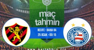 Recife - Bahia BA İddaa Analizi ve Tahmini 25 Ocak 2021