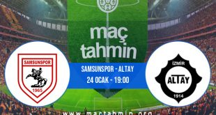 Samsunspor - Altay İddaa Analizi ve Tahmini 24 Ocak 2021