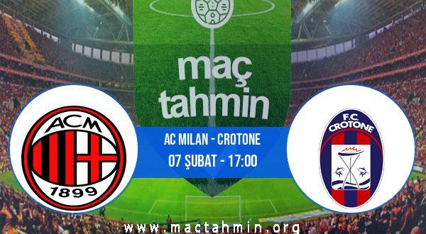 AC Milan - Crotone İddaa Analizi ve Tahmini 07 Şubat 2021