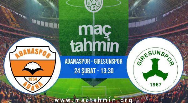 Adanaspor - Giresunspor İddaa Analizi ve Tahmini 24 Şubat 2021