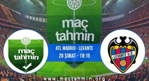 Atl Madrid - Levante İddaa Analizi ve Tahmini 20 Şubat 2021