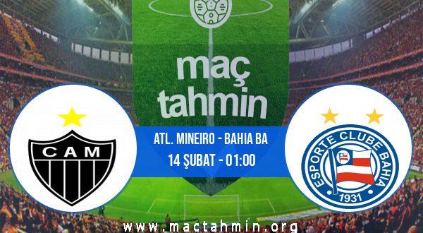 Atl. Mineiro - Bahia BA İddaa Analizi ve Tahmini 14 Şubat 2021