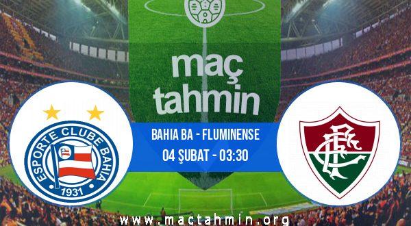 Bahia BA - Fluminense İddaa Analizi ve Tahmini 04 Şubat 2021