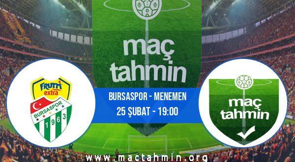 Bursaspor - Menemen İddaa Analizi ve Tahmini 25 Şubat 2021