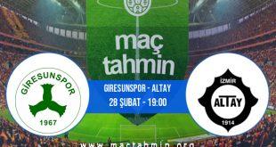 Giresunspor - Altay İddaa Analizi ve Tahmini 28 Şubat 2021