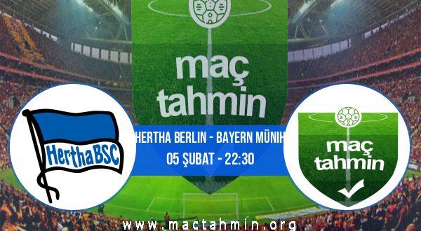 Hertha Berlin - Bayern Münih İddaa Analizi ve Tahmini 05 Şubat 2021