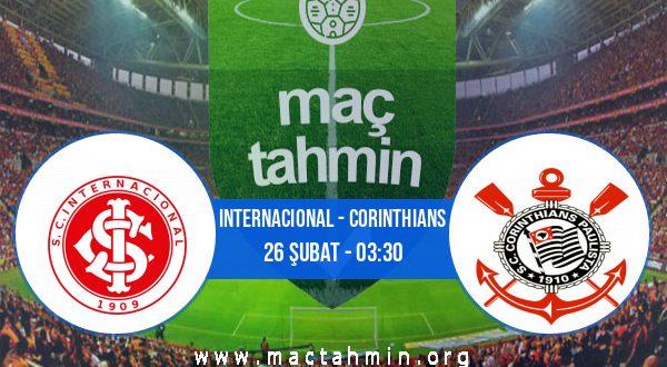 Internacional - Corinthians İddaa Analizi ve Tahmini 26 Şubat 2021