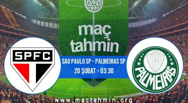 Sao Paulo SP - Palmeiras SP İddaa Analizi ve Tahmini 20 Şubat 2021