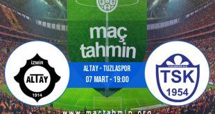 Altay - Tuzlaspor İddaa Analizi ve Tahmini 07 Mart 2021