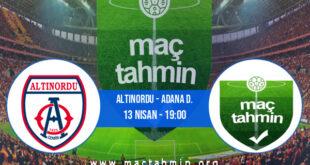 Altınordu - Adana D. İddaa Analizi ve Tahmini 13 Nisan 2021